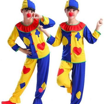 funny clown costume for children clown clothing festival costumes for kindergarten funny cosplay dance costumes for kids