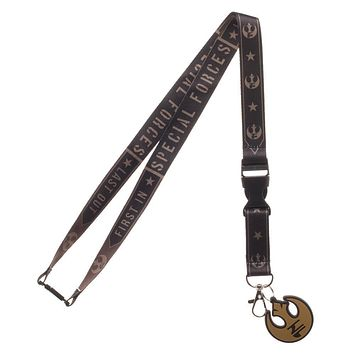MPL New Star Wars Endor Commando Wide Strap Lanyard with ID Badge Holder