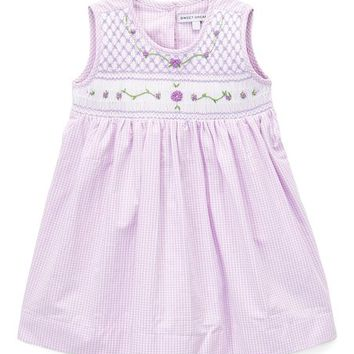 Sweet Dreams Purple Gingham Smocked Jenny Dress - Infant, Toddler & Girls