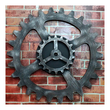 Loft Industrial Style Gear Wall Hanging Decoration    diameter 50cm