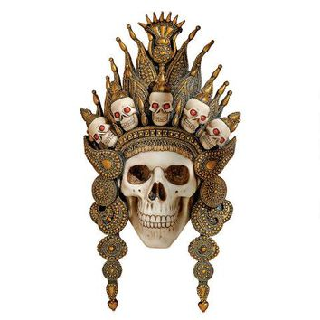"""Balinese God of the After Life"" Sculptural Skull Wall Mask - CL6817 - Design Toscano"