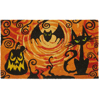 Scary Kitty & Bat Doormat