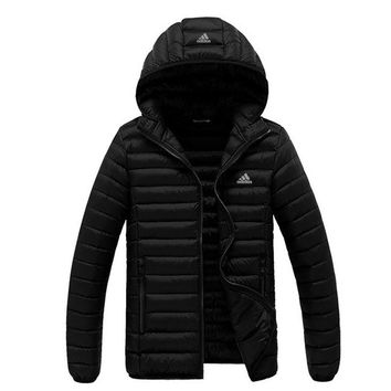 ADIDAS Women Fashion Eider Down Hooded Cardigan Jacket Coat Windbreaker