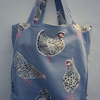 Chicken Tote Bag. A fully lined heavy duty bag.