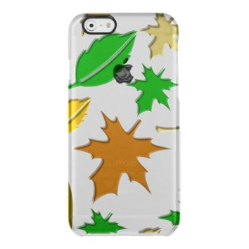pretty autumn leaves clear iPhone 6/6S case