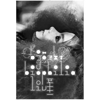 Bjork Poster Standup 4inx6in black and white