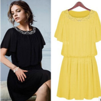 Summer Elegant Casual Chiffon Dress