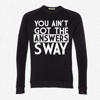 sway answers 7 fleece crewneck sweatshirt