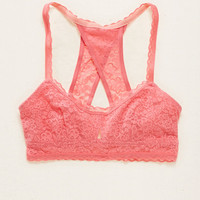 Aerie Lace Racerback Bralette , Shell Grey | Aerie for American Eagle