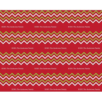 Christmas Chevron Wrapping Paper 12ft