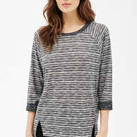Marled Stripe-Patterned Top