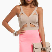 Snippet Combo Dress $36