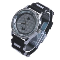 Jewelry Kay style Men's Rapper Fashion Silver Plated Black Bullet Band Hip Hop Watches WR 8368 S