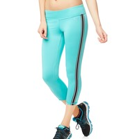 LLD Side Stripe Capri Leggings