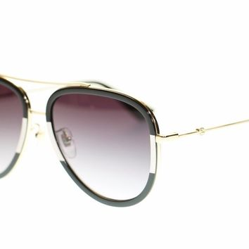 Gucci Women Aviator Sunglasses GG0062S 006 Gold/Grey Gradient Lens 57mm