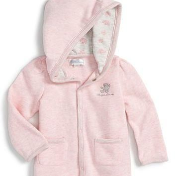 Ralph Lauren Hooded Cotton Jacket (Baby Girls) | Nordstrom