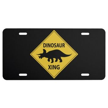 Dinosaur Xing License Plate