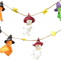 Ghosts Garland Halloween Bunting Decorations Halloween Ghosts Wall Hanging Home Decor