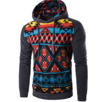 Mens Slim Tribal Pullover foodie