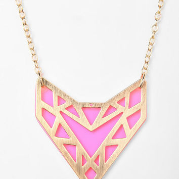 Urban Outfitters - Neon Geo Necklace