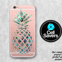 Pineapple Abalone Clear iPhone 6s Case iPhone 6 Case iPhone 6 Plus iPhone 6s Plus iPhone 5c iPhone SE Clear Case Rainbow Shell Paua Abalone