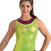 Aly Sangria Lace Racerback Leo from GK Elite