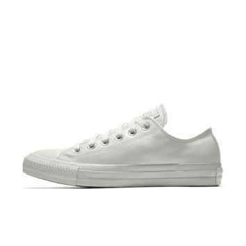 the converse custom chuck taylor all star leather low top shoe
