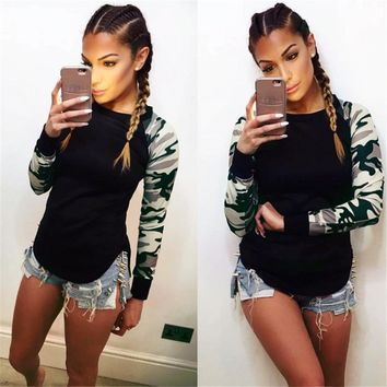 Army Camouflage Tactical T Shirt Women Long Sleeve Fitness Military Uniform Combat Clothing Hunt Workout Tee Tops