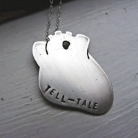 Tell-Tale Anatomical Heart Necklace Made To Order
