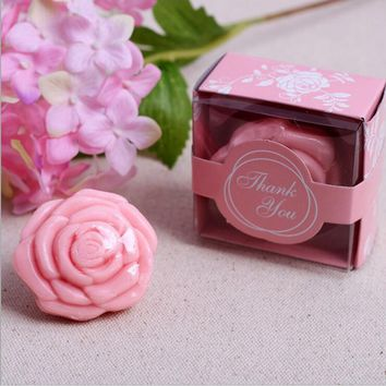1pcs Rose soap Baptism Girl Baby Shower Souvenirs Event Party Supplies Wedding Favors Gifts For Guest