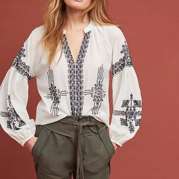 Anastasia Embroidered Peasant Top