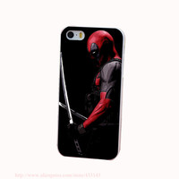 Deadpool Hard White Phone Case for iPhone 4 4s 5 5s 5c 6 6s