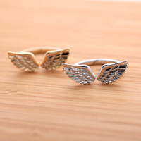 ANGEL's WING ring, 2 colors | girlsluv.it - handmade jewelry collection, ETSY, Artfire, Zibbet, Earrings, Necklace
