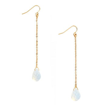 Faux Gemstone Drop Earrings