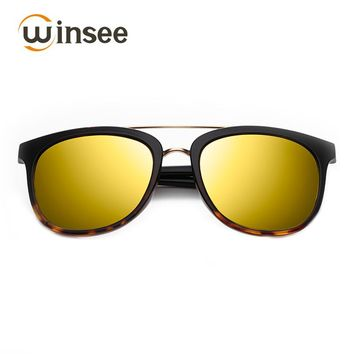 Winsee Polarized light sunglasses for women men oval fashion Vintage Anti UV Anti Glare