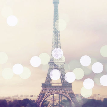Eiffel Tower Photo, Paris Photography, Large Wall Art Print, French Decor, Travel, France, Romantic Home Decor, Vintage Look, Shabby Chic