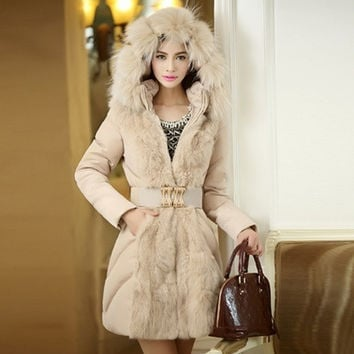 New 2015 girl Coats Jackets Winter Jacket Women Luxury Large Fur Long Down Jacket Parka winter Coat Jackets Women = 1932119748