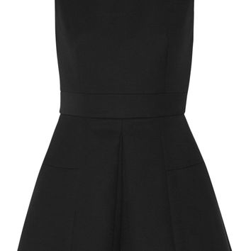 Pleated wool-blend scuba playsuit | Alexander McQueen | US | THE OUTNET