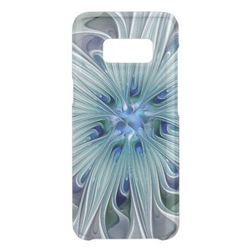 Floral Beauty Abstract Modern Blue Pastel Flower Get Uncommon Samsung Galaxy S8 Case