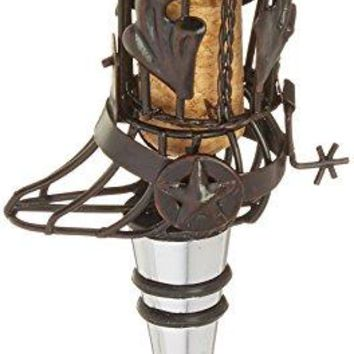 Epic Products Cork Cage Cowboy Boot Bottle Stopper 5Inch