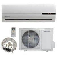 DuctlessAire, 9,000 BTU 3/4 Ton Ductless Mini Split Air Conditioner and Heat Pump - 120V/60Hz with 23 ft. Complete Kit, DA09-H at The Home Depot - Mobile