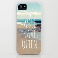 Eat Well Travel Often iPhone Case by Sabine Doberer | Society6