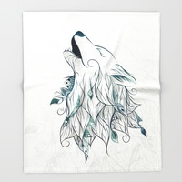 Wolf Throw Blanket by LouJah | Society6