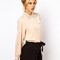 ASOS Blouse With Pretty Cutwork And Embroidery at asos.com