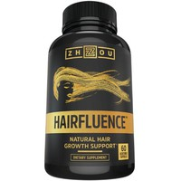 Hairfluence All Natural Hair Growth Formula For Longer, Stronger, Healthier Hair - Scientifically Formulated with Biotin, Keratin, Bamboo & More! - For All Hair Types - Veggie Capsules