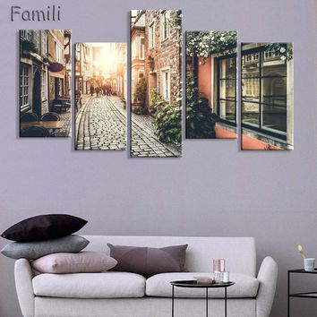 Home Decor 5 Panels Wall Art - Oil Painting Canvas