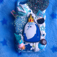 READY TO SHIP, Inspired by Adventure Time, Ice King Snap On Case for the iPhone 4S :3