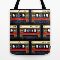 Vintage classic retro Gold mix cassette tape Tote Bag by Three Second