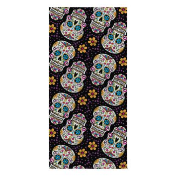 Sugar Skull Day of The Dead Beach Towel