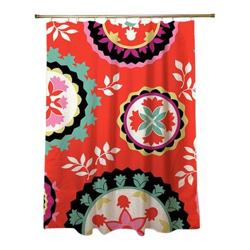 Bird Berries Susani Shower Curtain